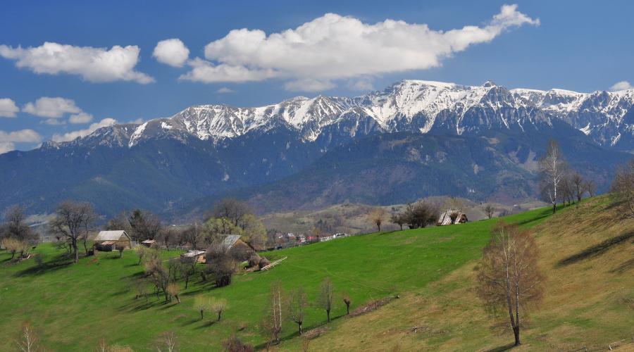 Remote village in Transylvanian mountains